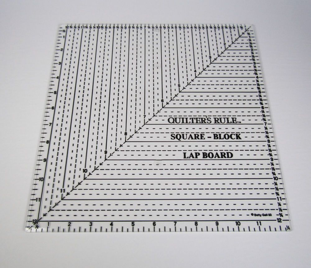 Quilters Rule Square Lap Board Ruler 12-1/2\