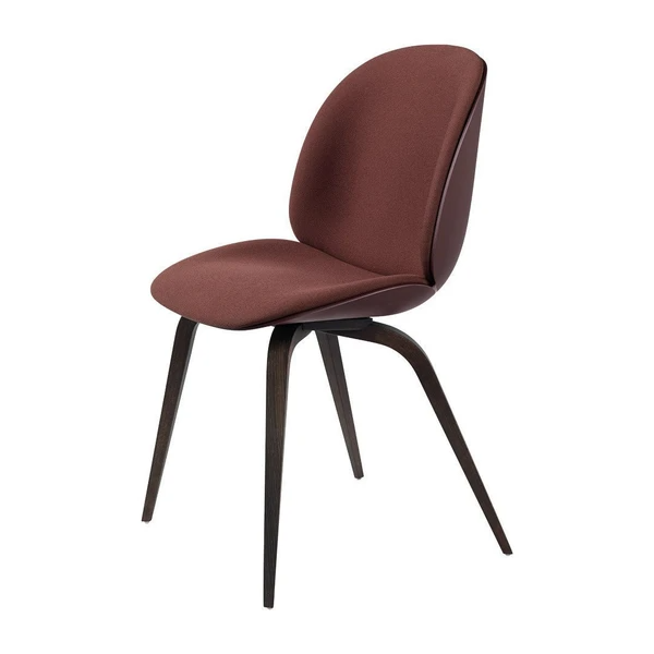 Beetle Dining Chair Wood Base Front Upholstered In 2020 Beetle Chair Wood Dining Chairs Dining Chairs