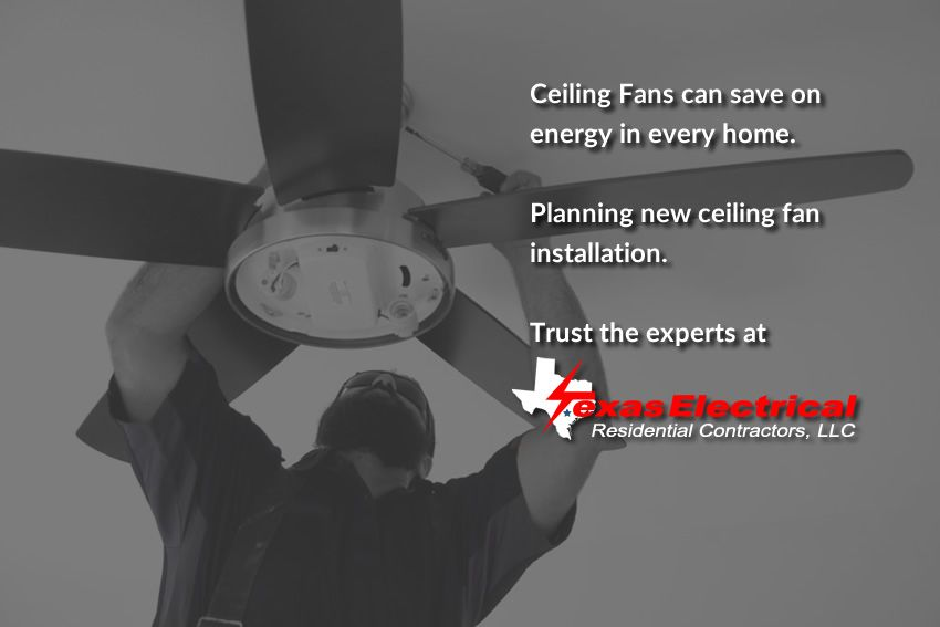Ceiling Fans Can Save On Energy In Every Home Planning New Ceiling Fan Installation Trust Fan Installation Ceiling Fan Installation Residential Contractor