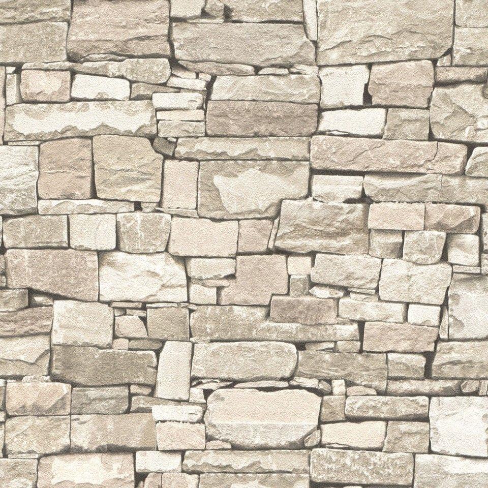 Papel pintado imitaci n piedra color marr n pdd521859119 for Imitacion piedra para fachadas