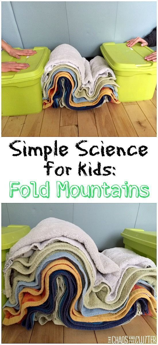 This is a great handson science experiment to explain how fold mountains are formed