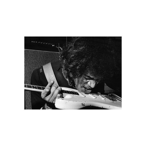 Jimi Hendrix Photographic Wall Art Print ($60) ❤ liked on Polyvore ...