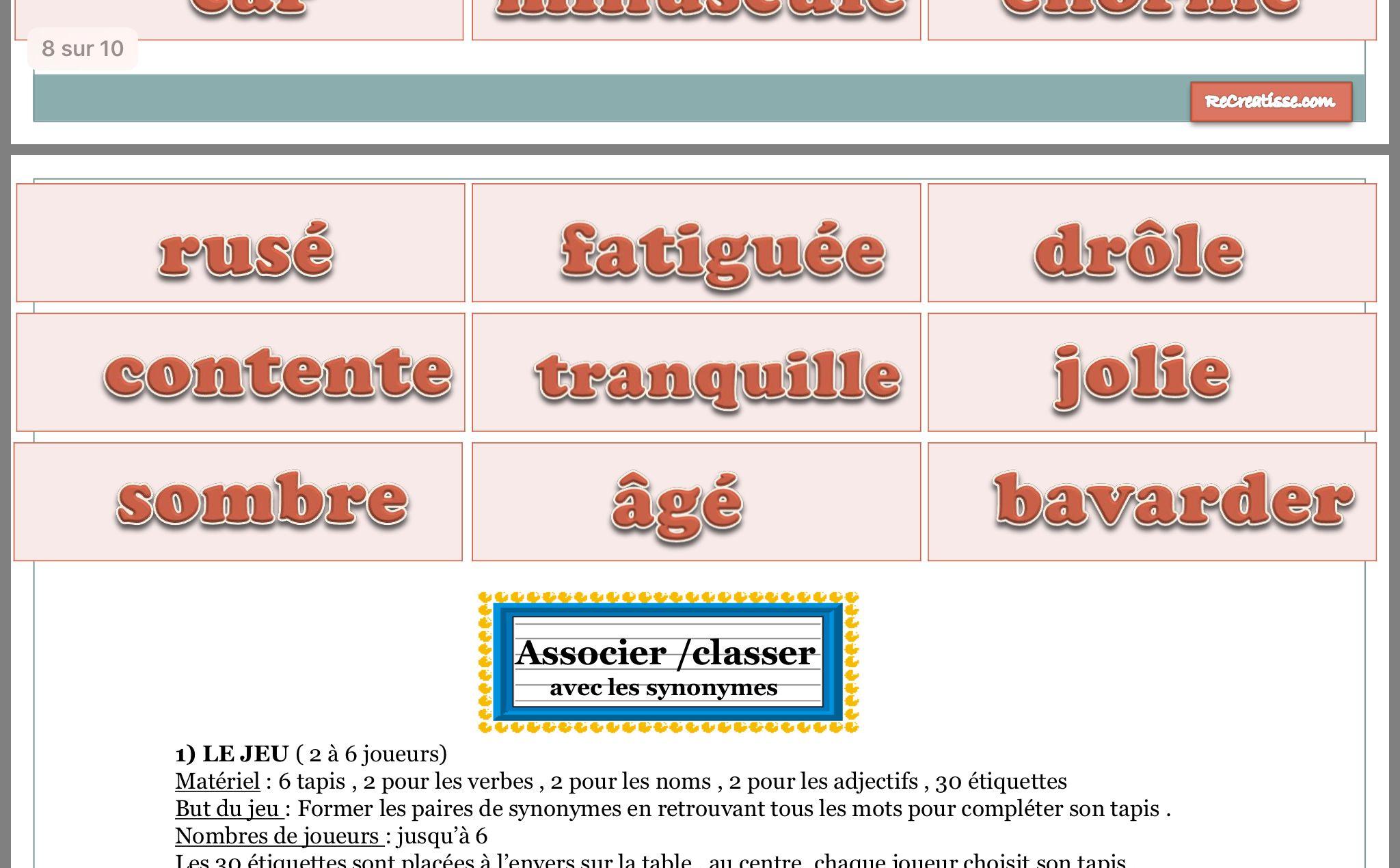Epingle Par Laurelinepoma Sur Education Les Adjectif Adjectifs
