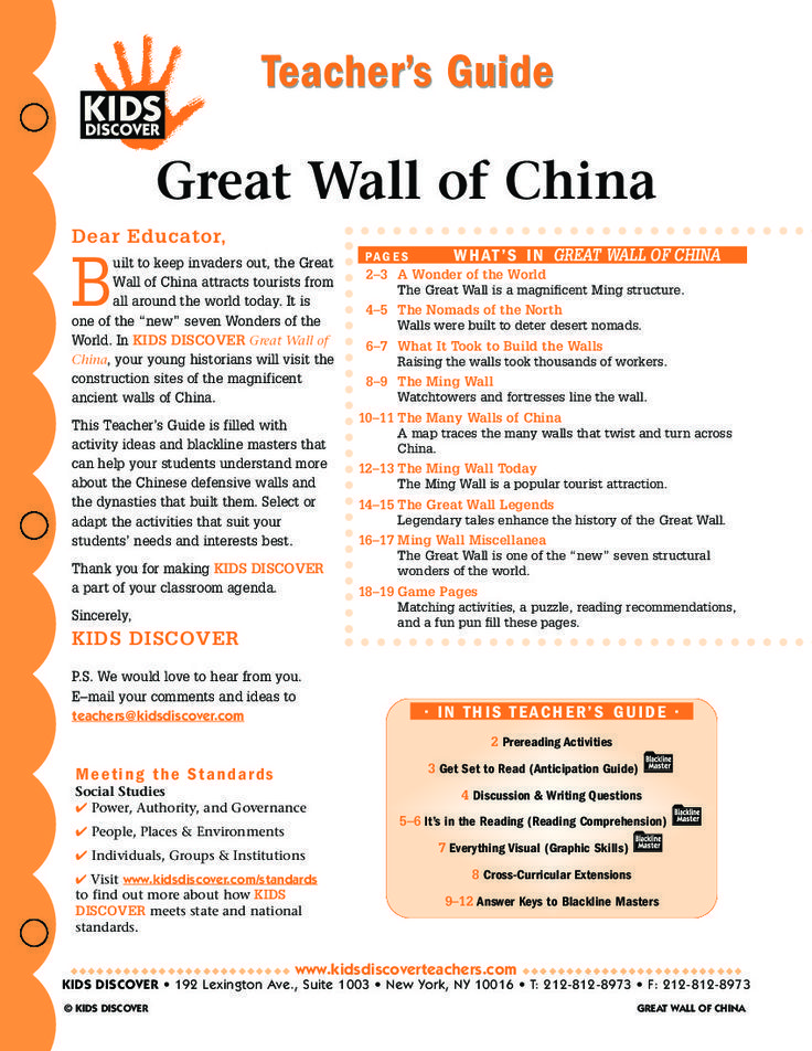 This free Lesson Plan for Kids Discover Great Wall of China will - new send letter to china format