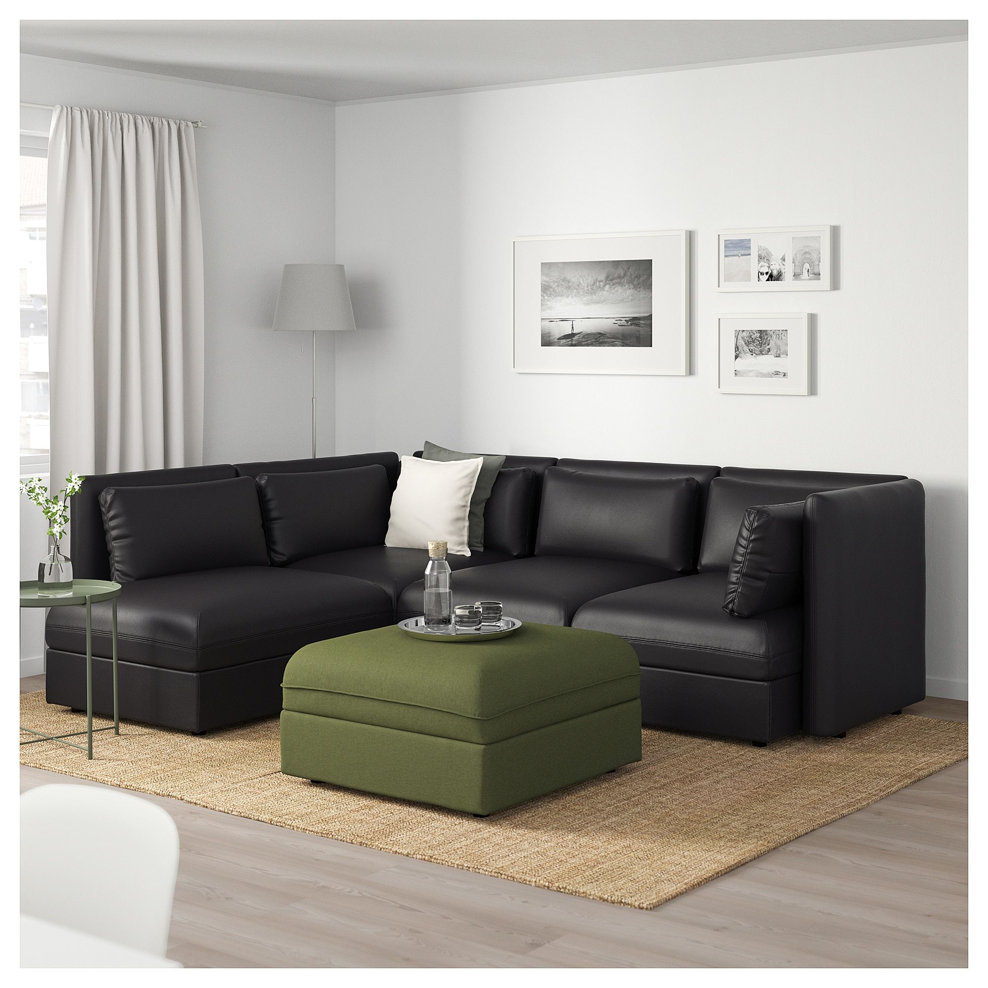 Marvelous Vallentuna Modular Corner Sofa 4 Seat With Storage Murum Lamtechconsult Wood Chair Design Ideas Lamtechconsultcom
