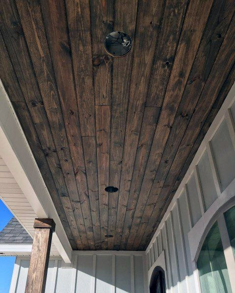 Top 70 Best Porch Ceiling Ideas - Covered Space Designs #rusticporchideas