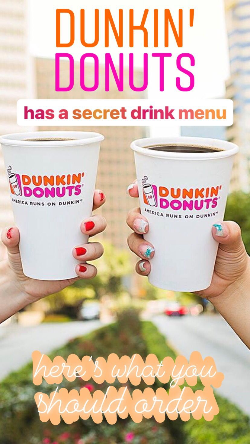 Dunkin' Donuts has a secret drink menu — here's what you