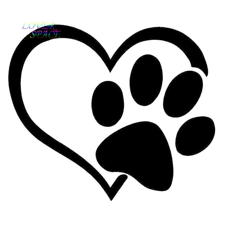 Who Rescued Who Paw Print Vynil Window Decal Bumper Sticker US Seller