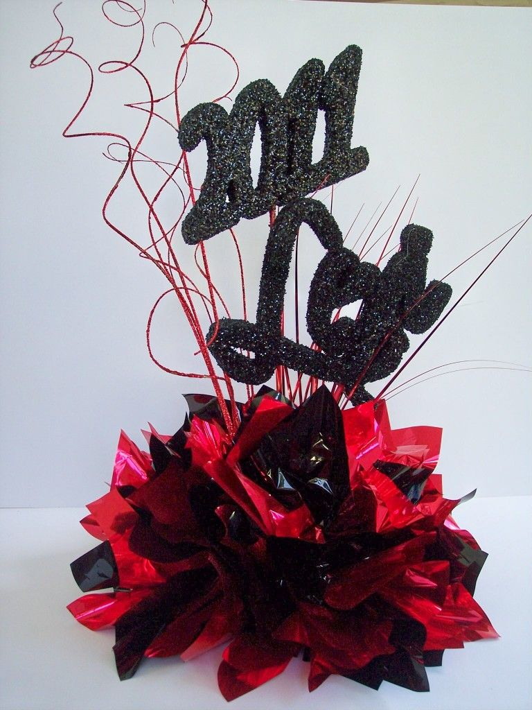 Graduation table decorations homemade - Graduation Party Table Centerpieces Silver Black For Steele Colors