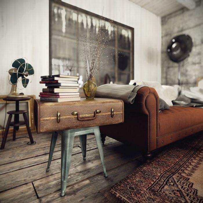 awesome wohnen im landhausstil wohnzimmer möbel koffer beistelltisch