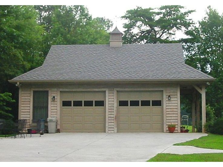 006G0052 Detached 2car garage plan with country styling