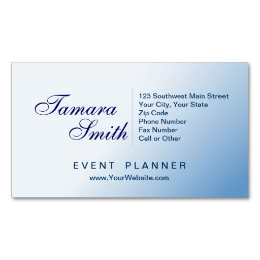 White And Soft Blue Event Planner Business Card Templates This - event card template