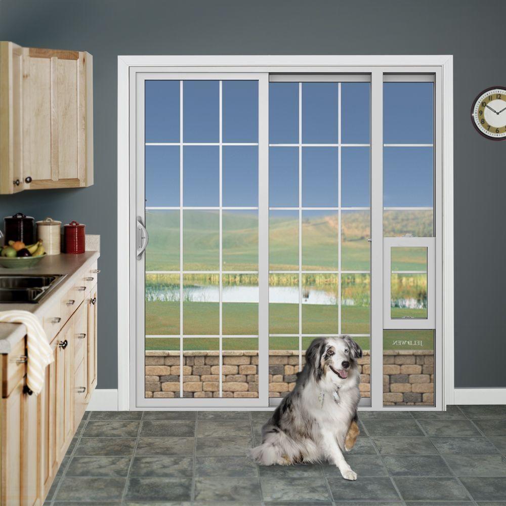Jeldwen 72 in x 80 in white right hand vinyl patio door