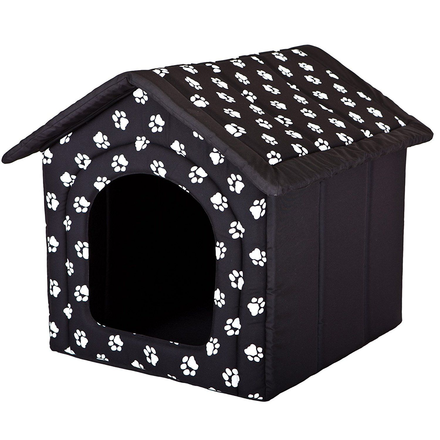 Hobbydog Dog House, Size 3, Black with Paws >>> Read more