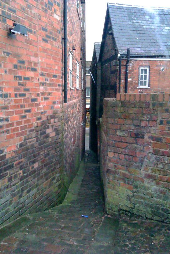 Here S Another View Of Stone Street In Prescot The Narrowest Publicly Named Street In The Uk Seen From The O Stone Street Prescot Liverpool History
