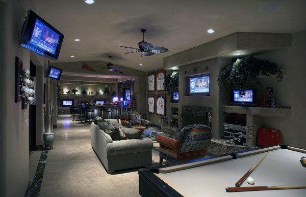 Basement Gaming Man Cave Ideas Novocom Top