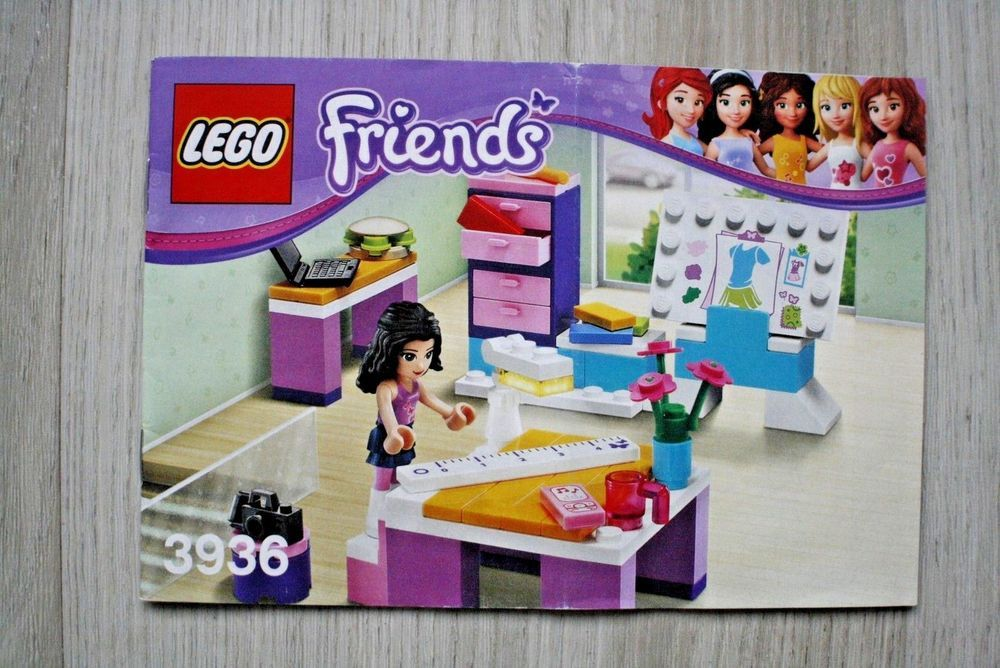 Lego 3936 Instruction Book For Friends Emma S Design Studio Lego Lego Instruction Books Lego Lego Instructions