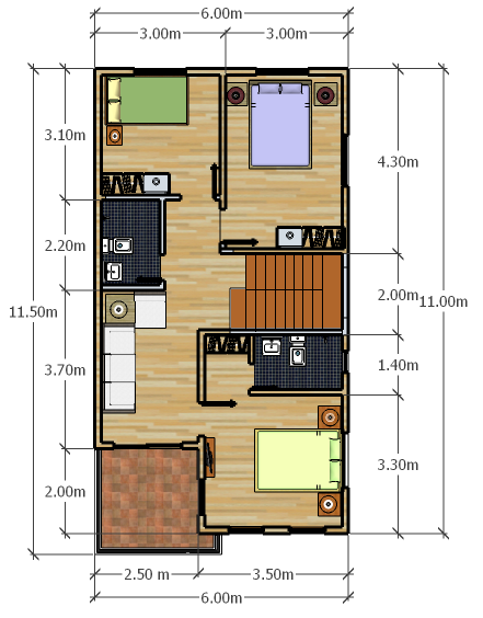 Modern 9 Narrow House Plans My House Plans Small House Plans