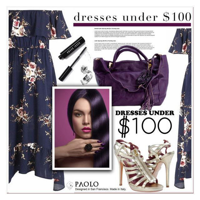 """""""Under $100: Summer Dresses and PaoloShoes"""" by spenderellastyle ❤ liked on Polyvore featuring Bobbi Brown Cosmetics and under100"""