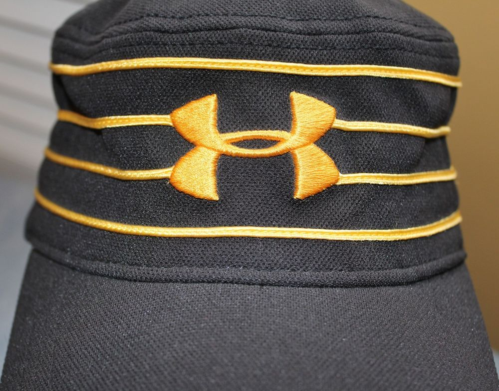 738a5a28 buy under armour cadet conductor military style fitted sz l black gold  stripes hat underarmour cadetmilitary
