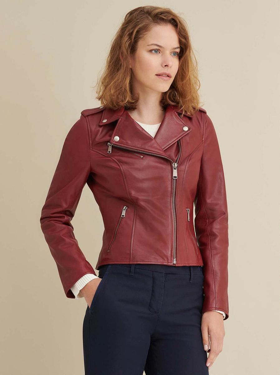 Madeline Asymmetrical Leather Jacket Asymmetrical Leather Jacket Leather Jacket Leather Jackets Women [ 1200 x 899 Pixel ]