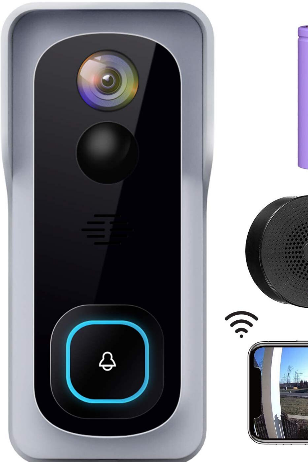 wifi video doorbell camera review : 100% Wireless and ...