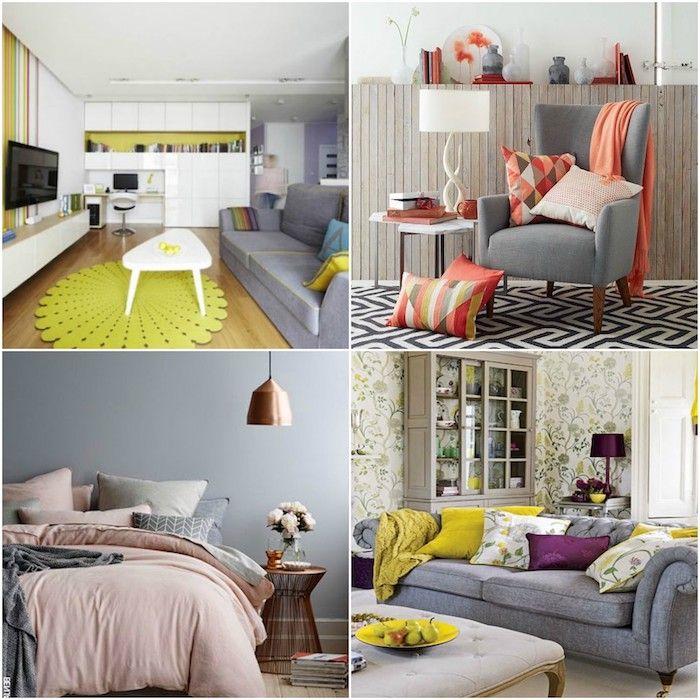 ▷ 1001 + Ideen zum Thema Welche Farbe passt zu grau? Wohnideen - wohnzimmer rot orange