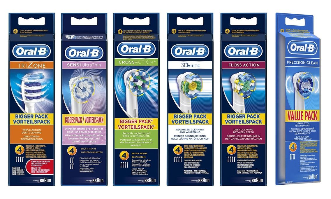 4 or 8 OralB Replacement Toothbrush Heads Oralb