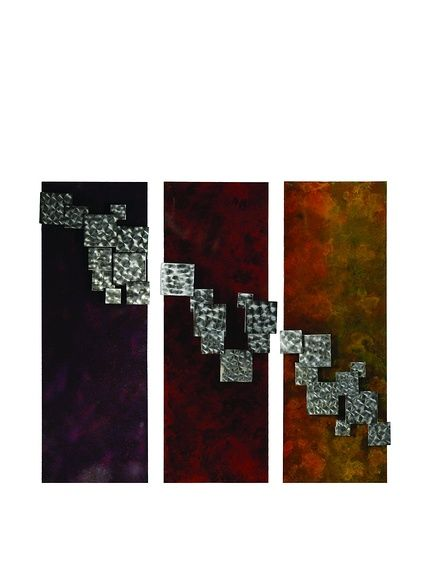 C\'Jere By Artisan House Step It Up Set of 3 Metal Wall Installation ...