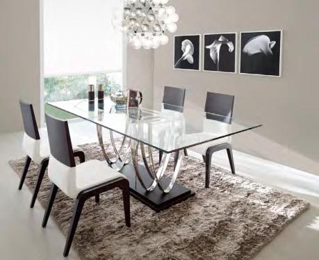 Original mesa de comedor con base de cristal y patas ...