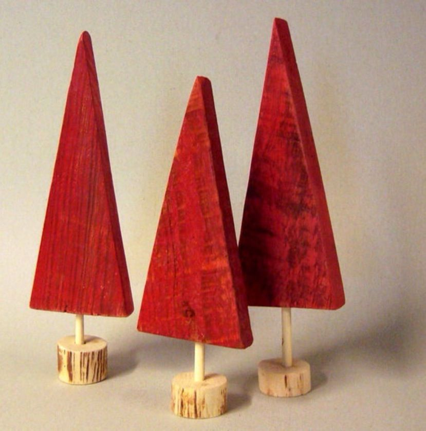 Small Wooden Christmas Trees