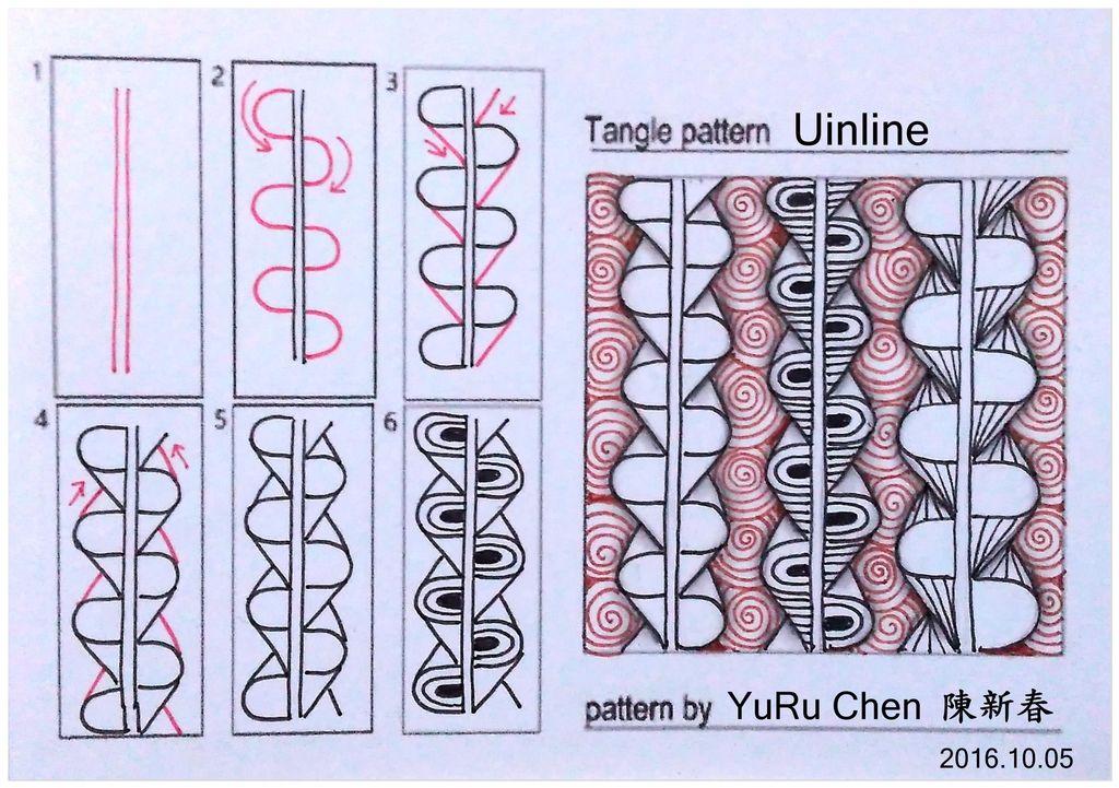 pin von Дина Таль auf tangles   zentangle muster