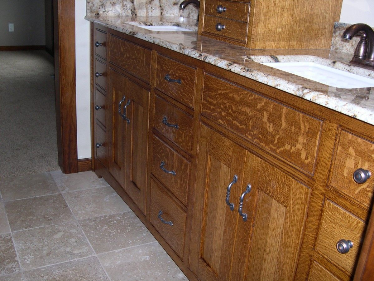 Quarter Sawn Oak Cabinets Kitchen | Bathroom Vanity Quarter Sawn