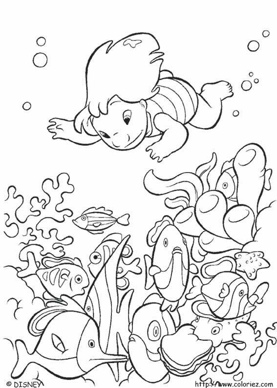 Coloriage Lilo Et Stitch Stitch Coloring Pages Ocean Coloring Pages Disney Coloring Pages