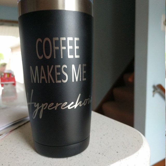 Photo of Personalized 30 oz Custom Coffee Tumbler Humorous Father's Day  Laser Birthday