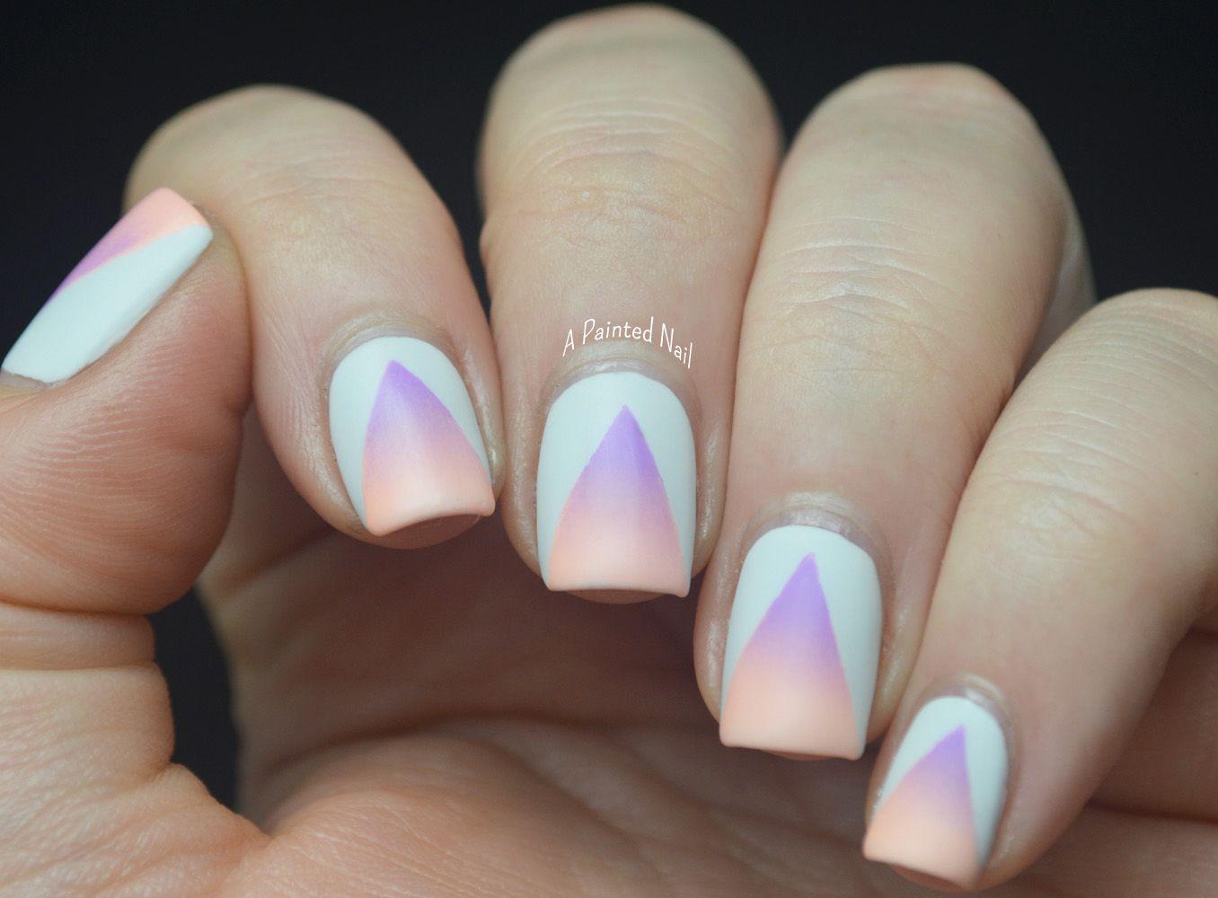 Pastel Summer Neon Gradient: Summer Nail Art Series: Matte Neon Gradient Cut Outs