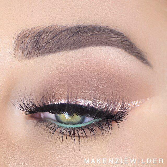 Pretty pastel eye shadow