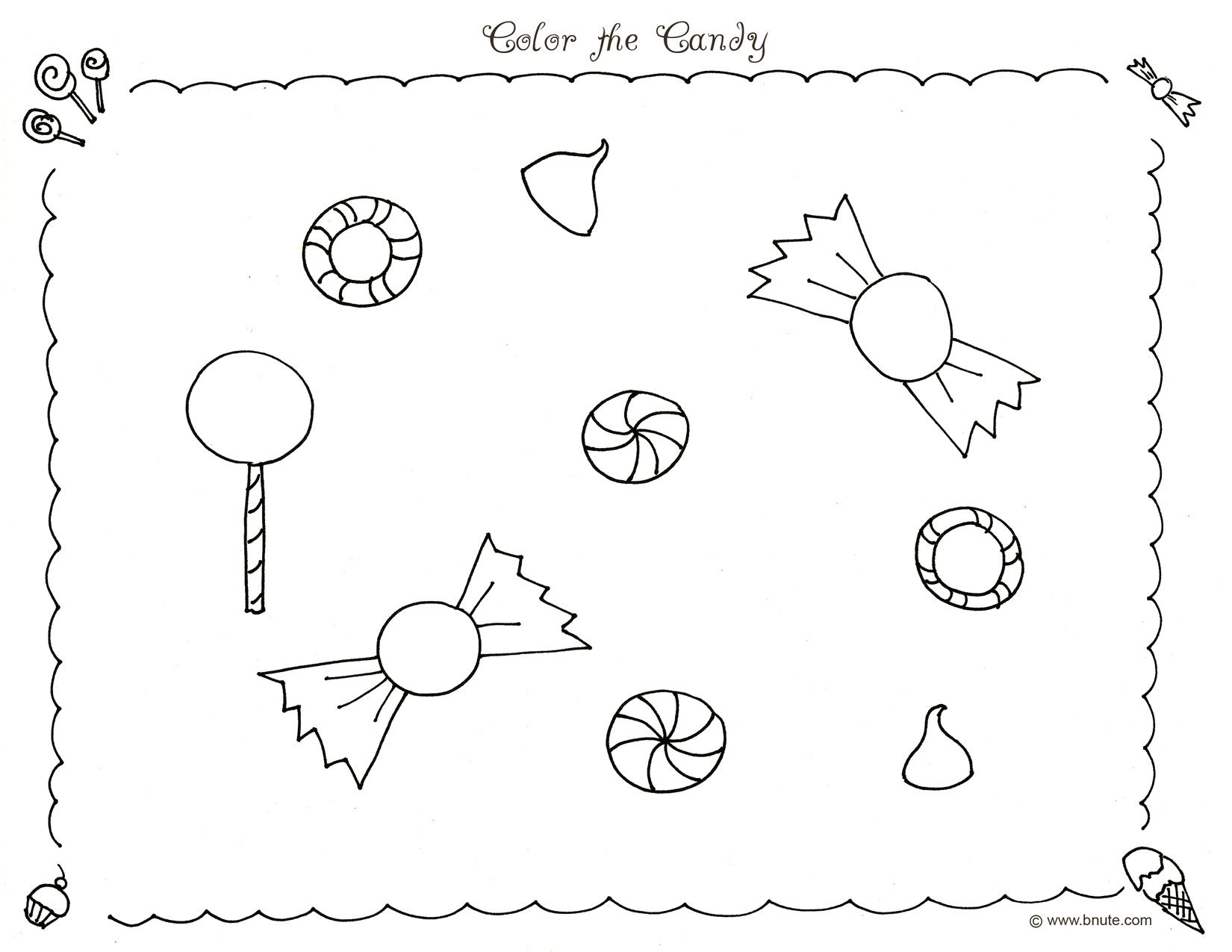 Color the Candy Coloring Page by B.Nute productions | * CHARLIE ...
