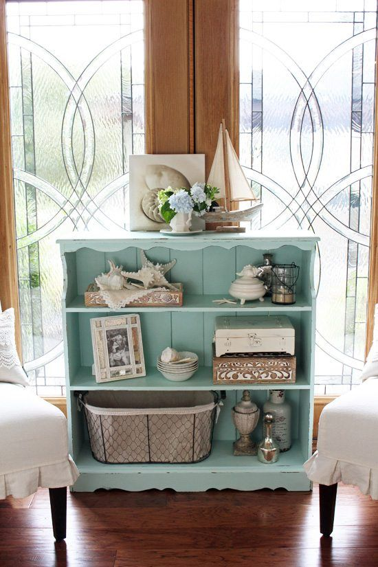 30 Painted Furniture Ideas In Blue More Bookcase Makeover