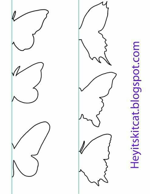 Butterfly template Bricolaje y manualidades Pinterest