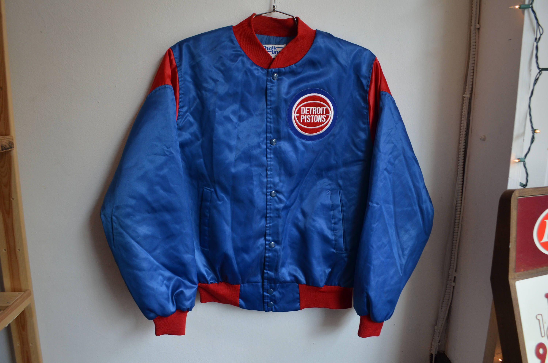 info for f001f 3b528 Vintage 90s Chalk Line Detroit Pistons NBA Basketball Satin ...