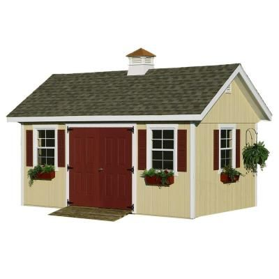 Homeplace Structures 10 Ft X 16 Ft Studio Garden Building With Floor Ls1016f The Home Depot Garden Buildings Outdoor Storage Sheds Best Barns