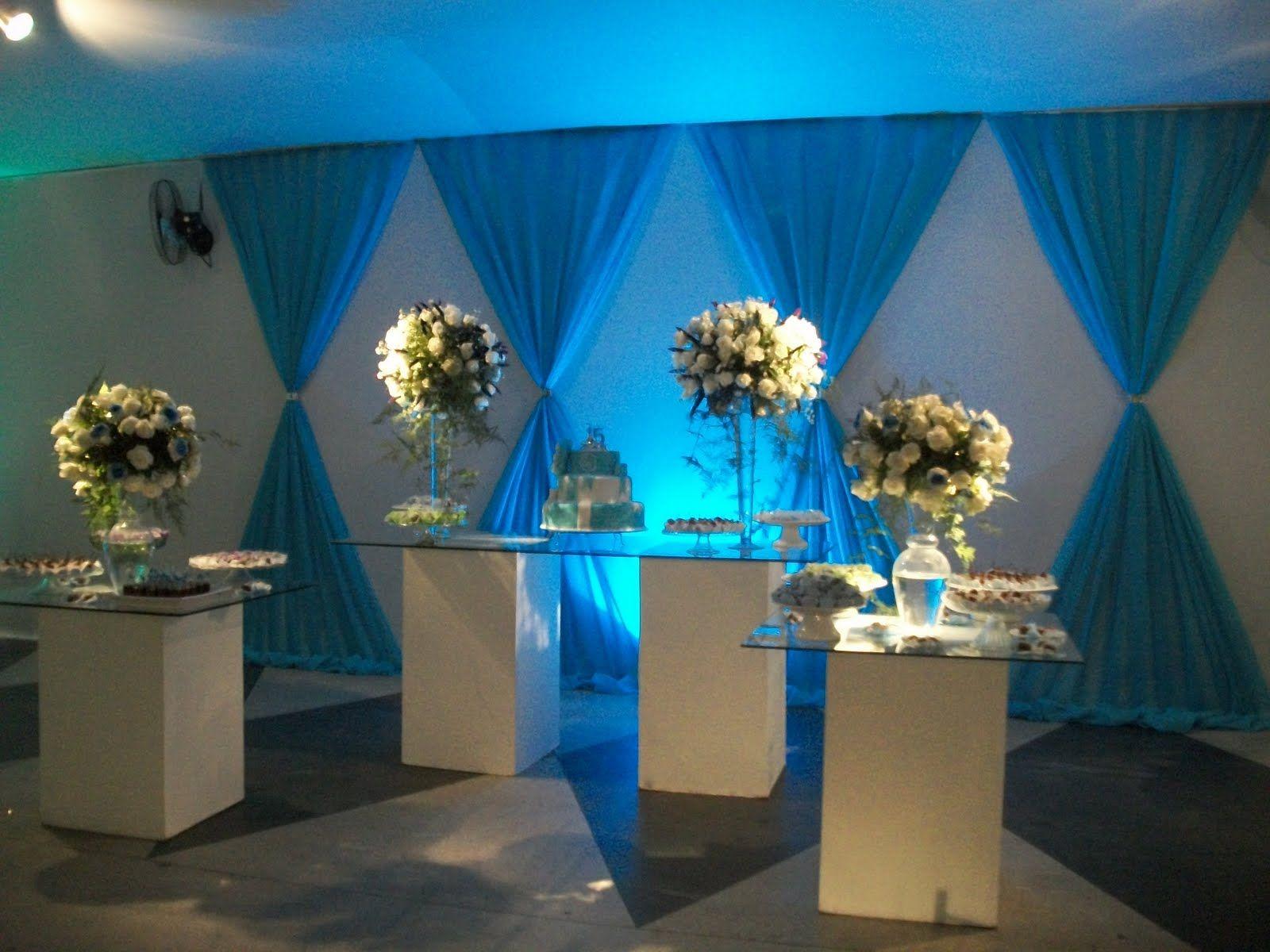 Decoracao De 15 Anos: Decoração Azul Tiffany 15 Anos