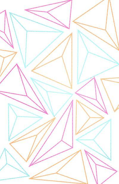 Triangle Gems Illustration Pattern Art Triangle Drawing Triangle Pattern
