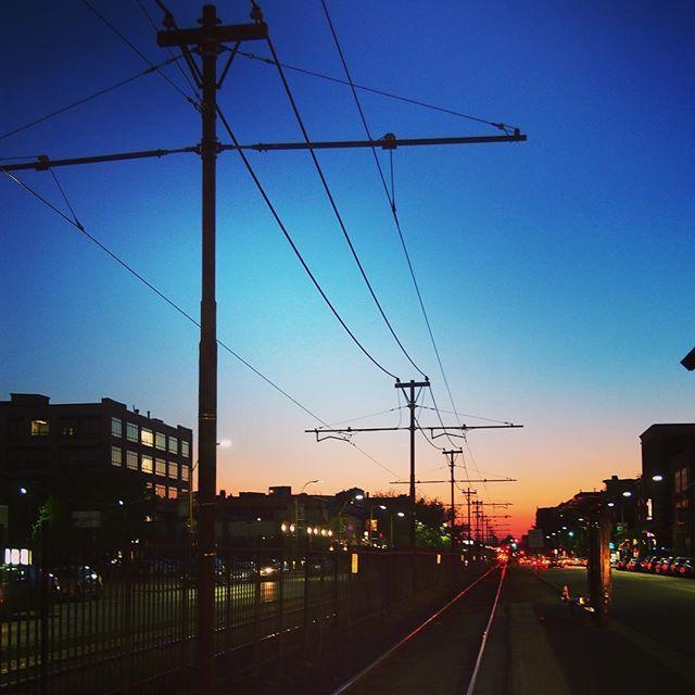 Sunset from BU:)))) #Boston #Sunset #BU #BostonUniversity #railline #olympus # by mmmiyuuu2