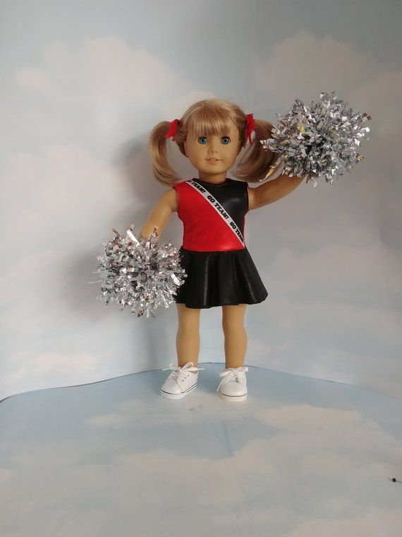 Black and Red Cheerleader 18 inch doll clothes #18inchcheerleaderclothes