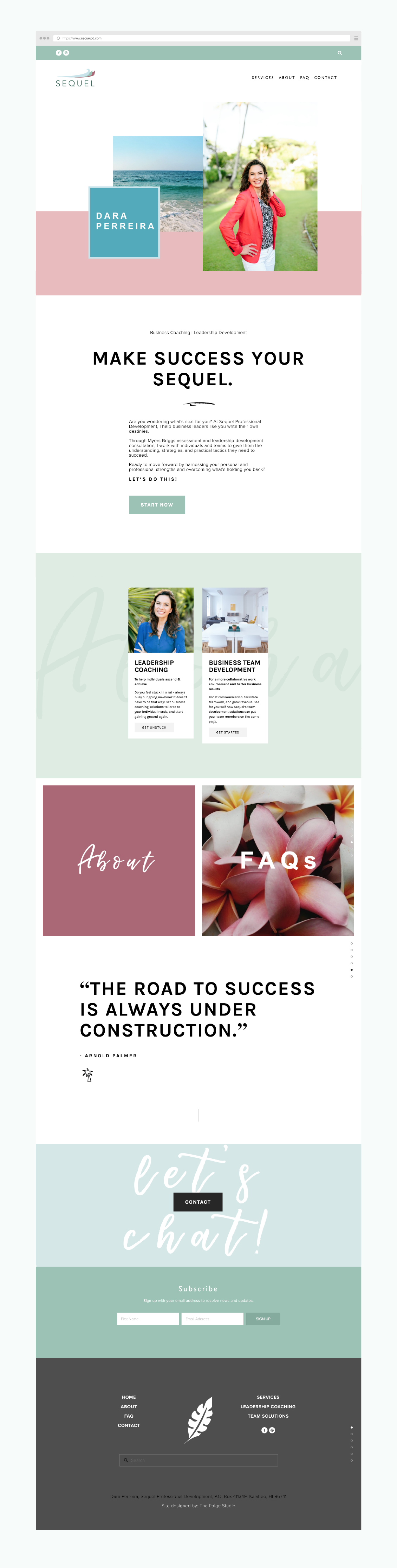 2017 Website Design Inspiration Creative Business Layout On Squarespace The Paige Studio