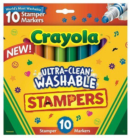 Everything Your Emoji Loving Kiddo Needs For Back To School Crayola Washable Markers Stampers