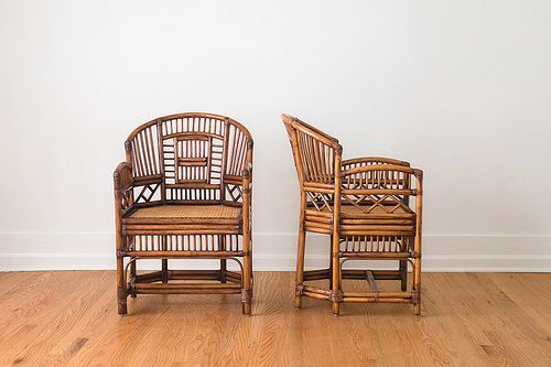 SALE Pair of Mid Century 1960's Rattan Chinoiserie Cafe Chairs by @HomesteadSeattle | classic as a wicker chair. | Flickr - Photo Sharing!