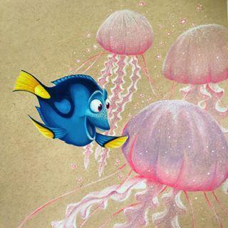 """Lewnartic su Instagram: """"Jellyfishin '! 🐠 Ne ho aggiunti solo tre perché non volevo esagerare, ma contento del risultato! Non ho ancora visto il nuovo film 😭 … """""""